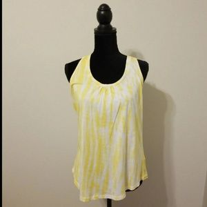 Maurices Yellow Tye Dye with Lace Back